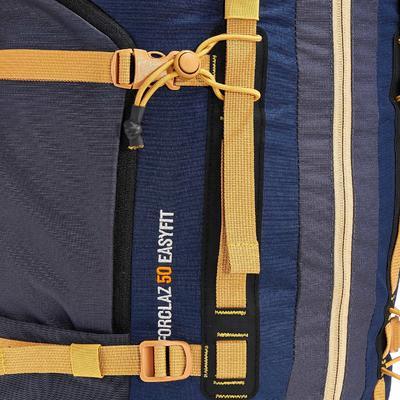 Чоловічий рюкзак для трекінгу в горах, з системою Easyfit, 50 л – Синій
