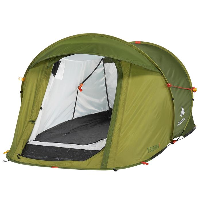Außenzelt (grün) und Gestänge für Quechua-Zelt 2 Seconds EasyII