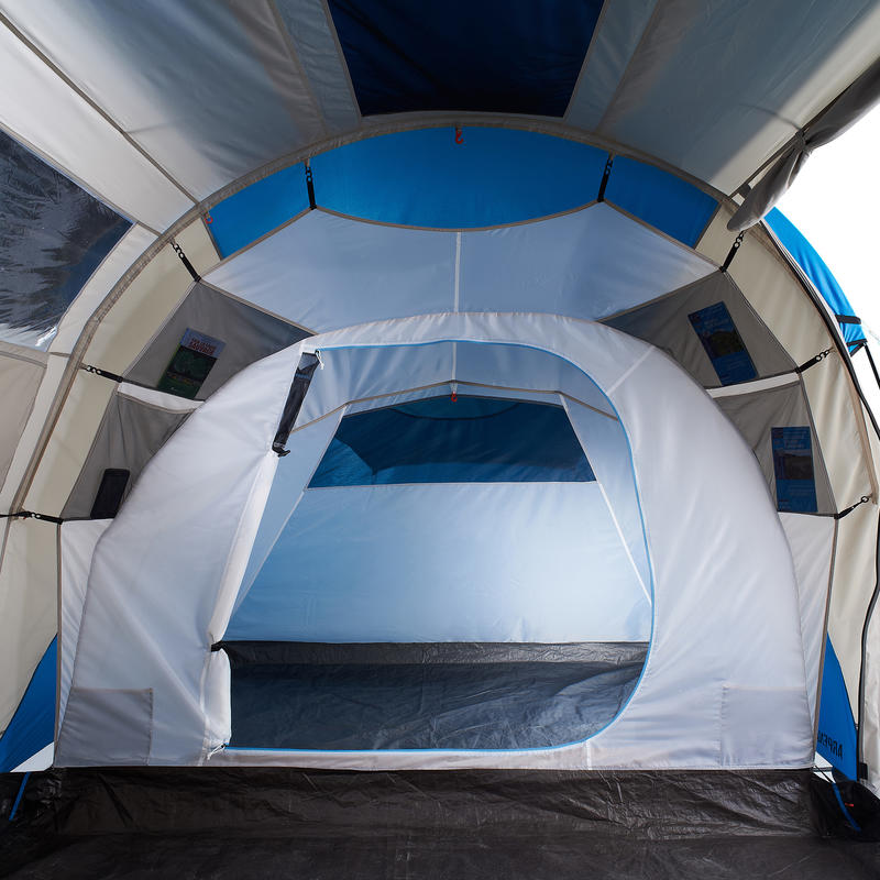 Arpenaz 4.2 Family Camping Tent   4 people 2 large rooms