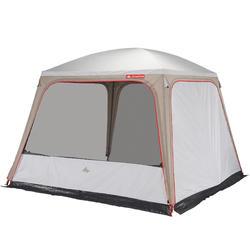 Shelter met deuren voor camping Arpenaz 3x3 10 personen  UPF 50+ FRESH
