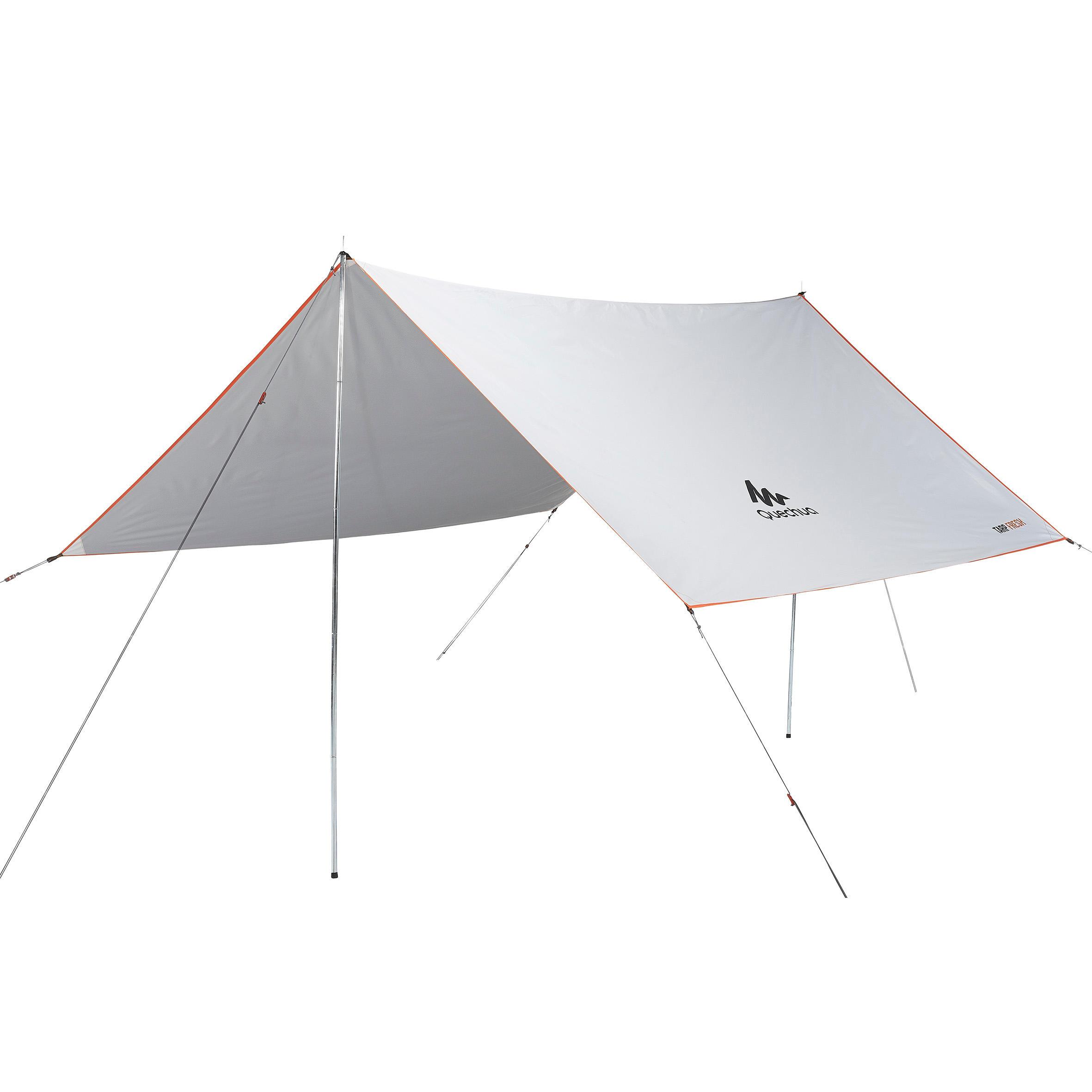 Tarp Abri Camping Multifonction Fresh Blanc 9m²
