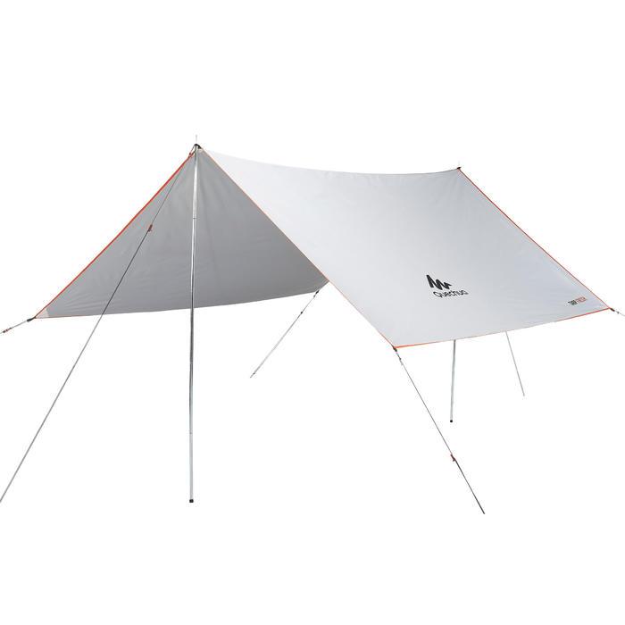 Tarp Abri Camping Multifonction Fresh Blanc | 9m²