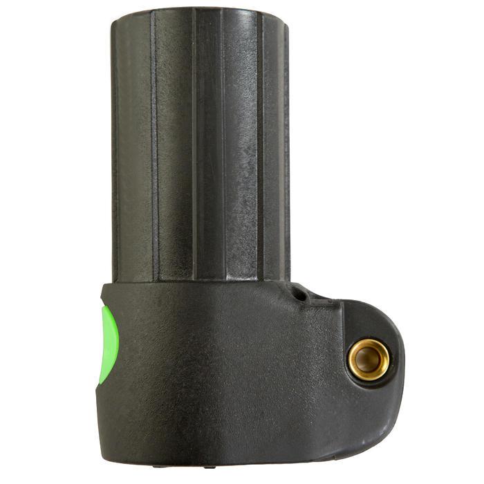 Mast base met 'push pin'-drukknopen compatibel met alle standaardmasten.