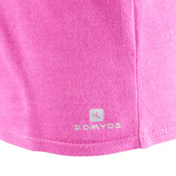 T-shirt korte mouwen gym meisjes - 569483