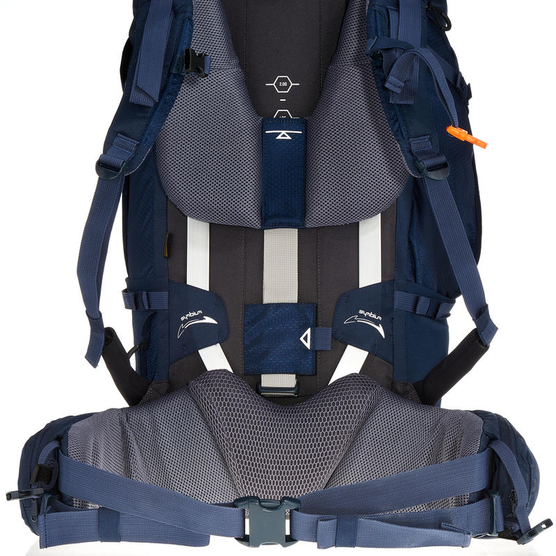 Symbium men's Trekking backpack 70+10 litres dark blue