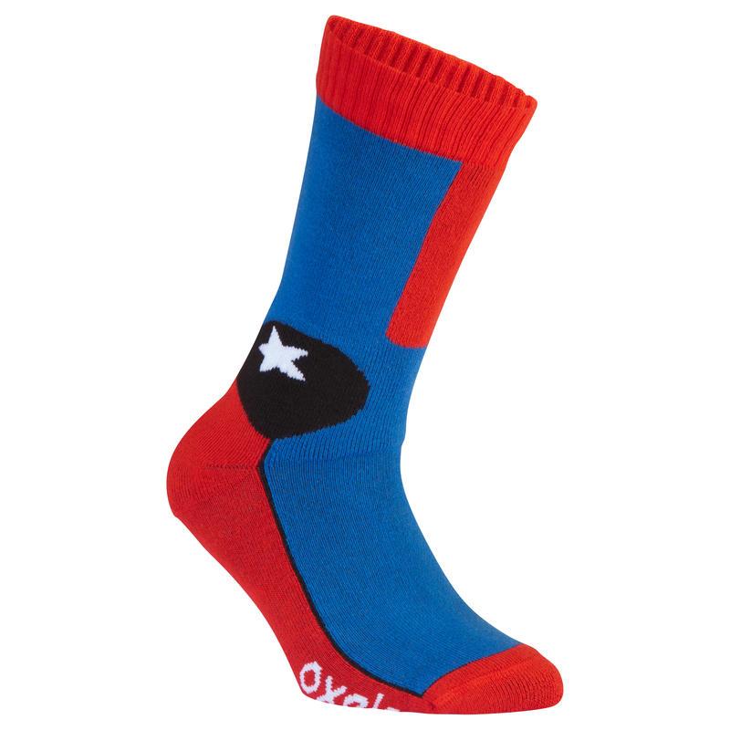 Play Kids' Inline Skating Socks - Blue/Red
