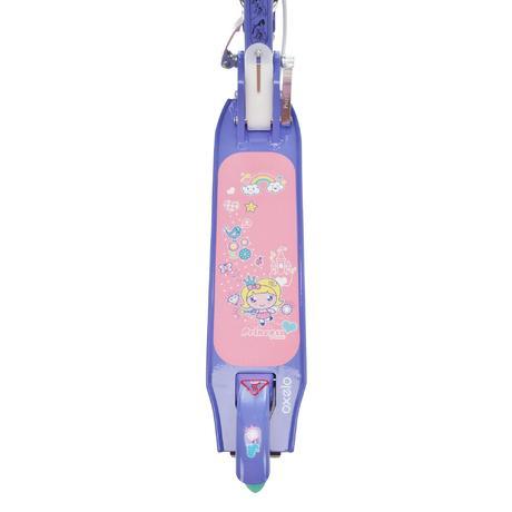 trottinette enfant play 5 avec frein rose violet oxelo. Black Bedroom Furniture Sets. Home Design Ideas