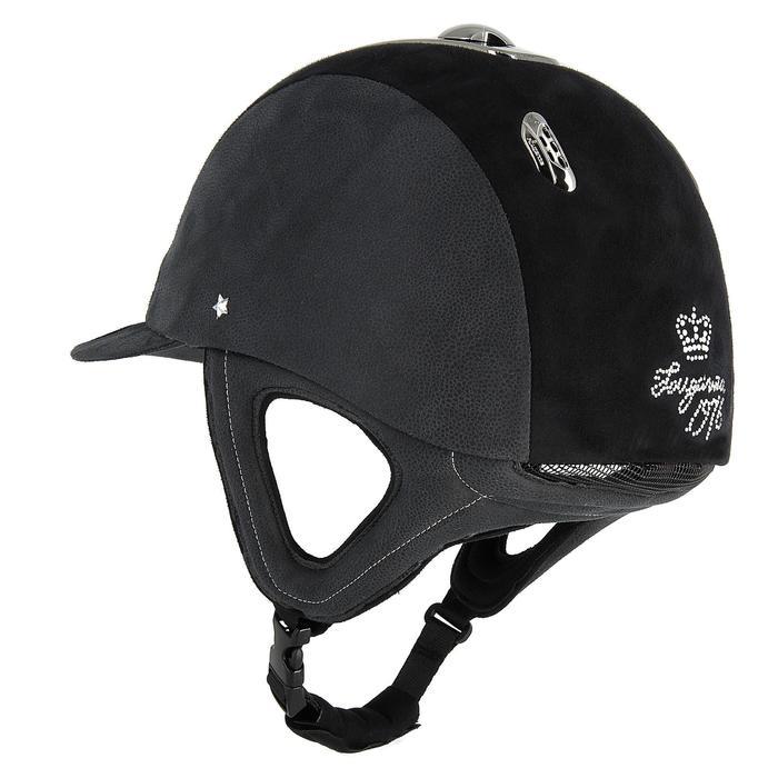 Casco de equitación C700 ESTRÁS negro