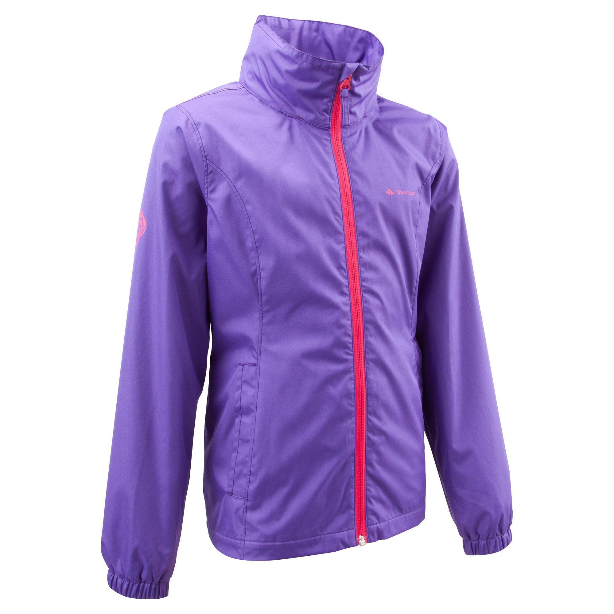 Veste arpenaz 500 light fille violet randonn e quechua - Draps jetables decathlon ...