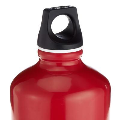 Gourde randonnée 100 bouchon à vis 1 litre aluminium rouge