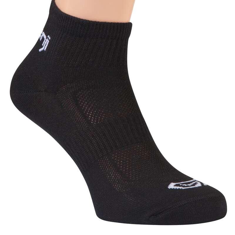 ČARAPE ZA TRČANJE ZA ODRASLE Dodaci odjeći - Čarape Ekiden 3 para crne KIPRUN - Čarape