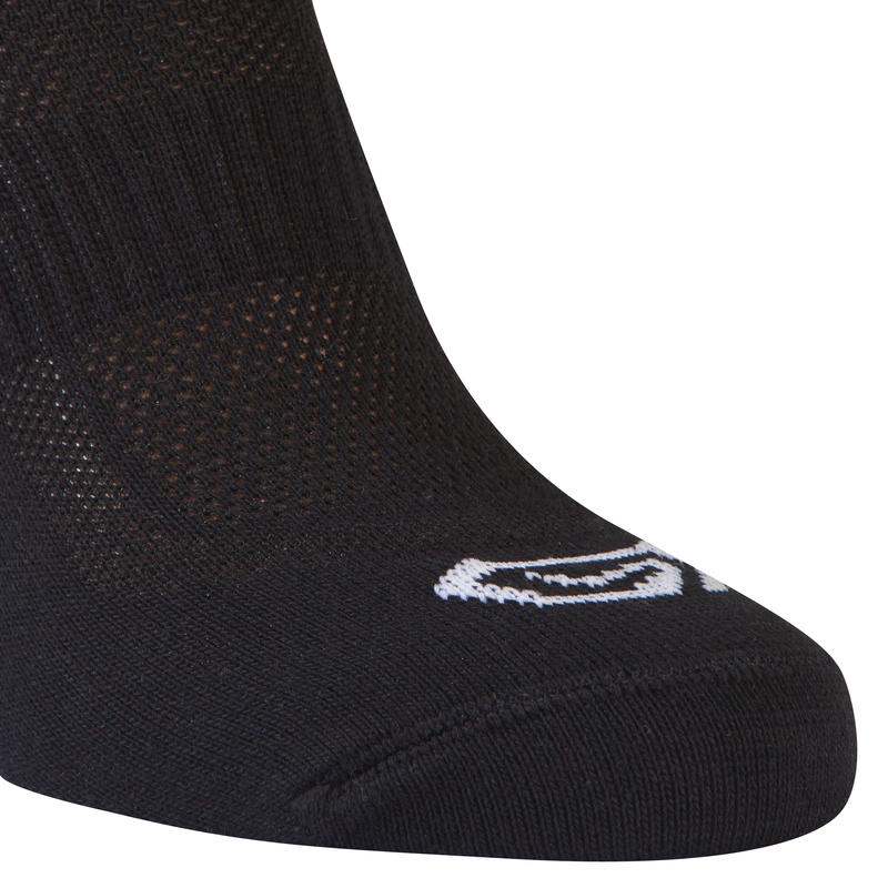 ถุงเท้าวิ่งสำหรับเด็กแพ็คละ 2 คู่ (สีดำ)