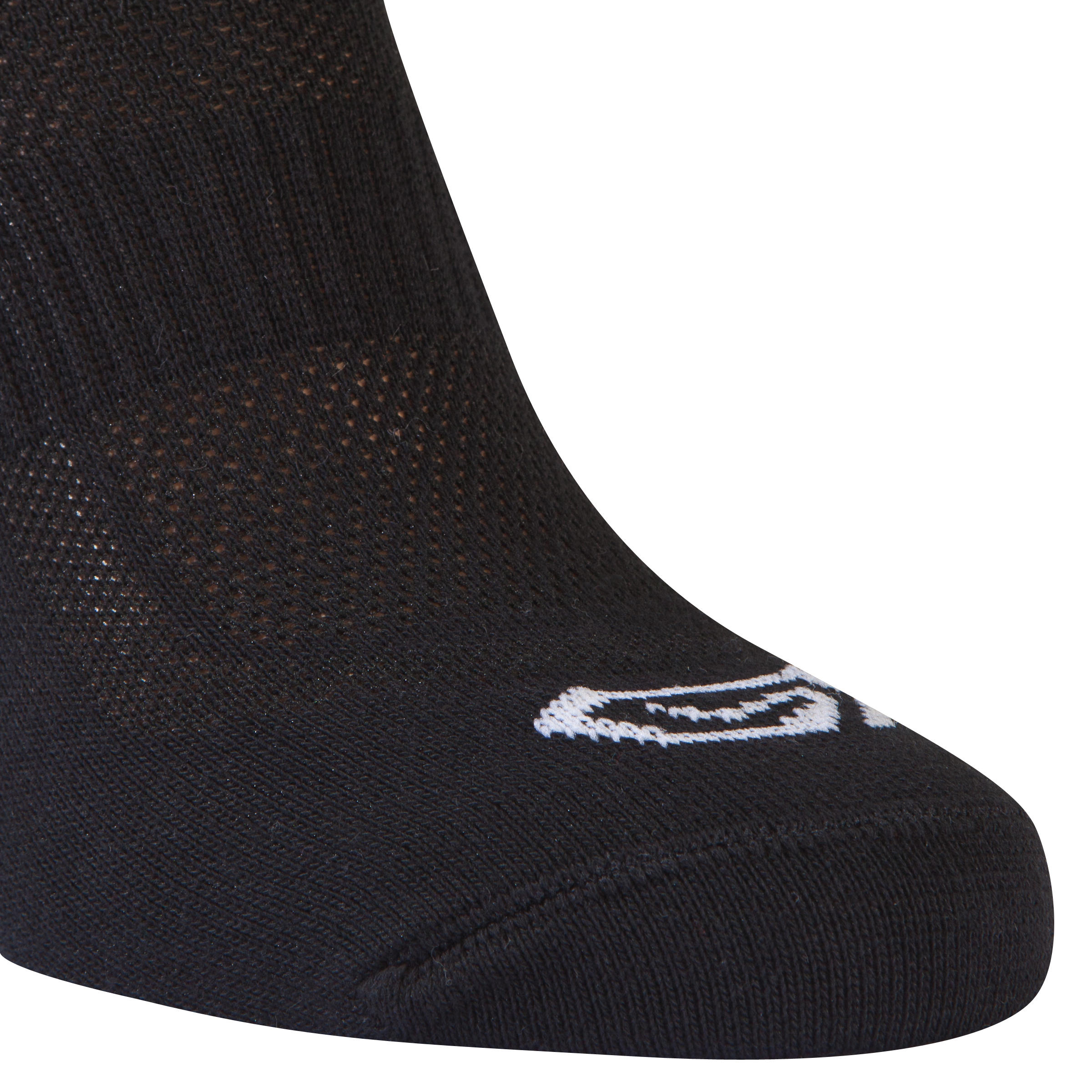 CHILDREN'S ATHLETICS SOCKS BLACK PACK OF 2