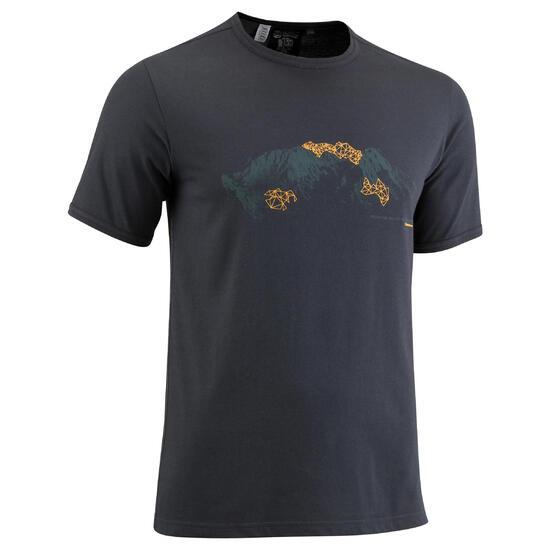 Wandel T-shirt met korte mouwen voor heren Techtil 100 gemêleerd - 581032