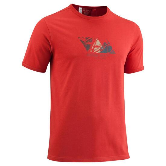 Wandel T-shirt met korte mouwen voor heren Techtil 100 gemêleerd - 581045