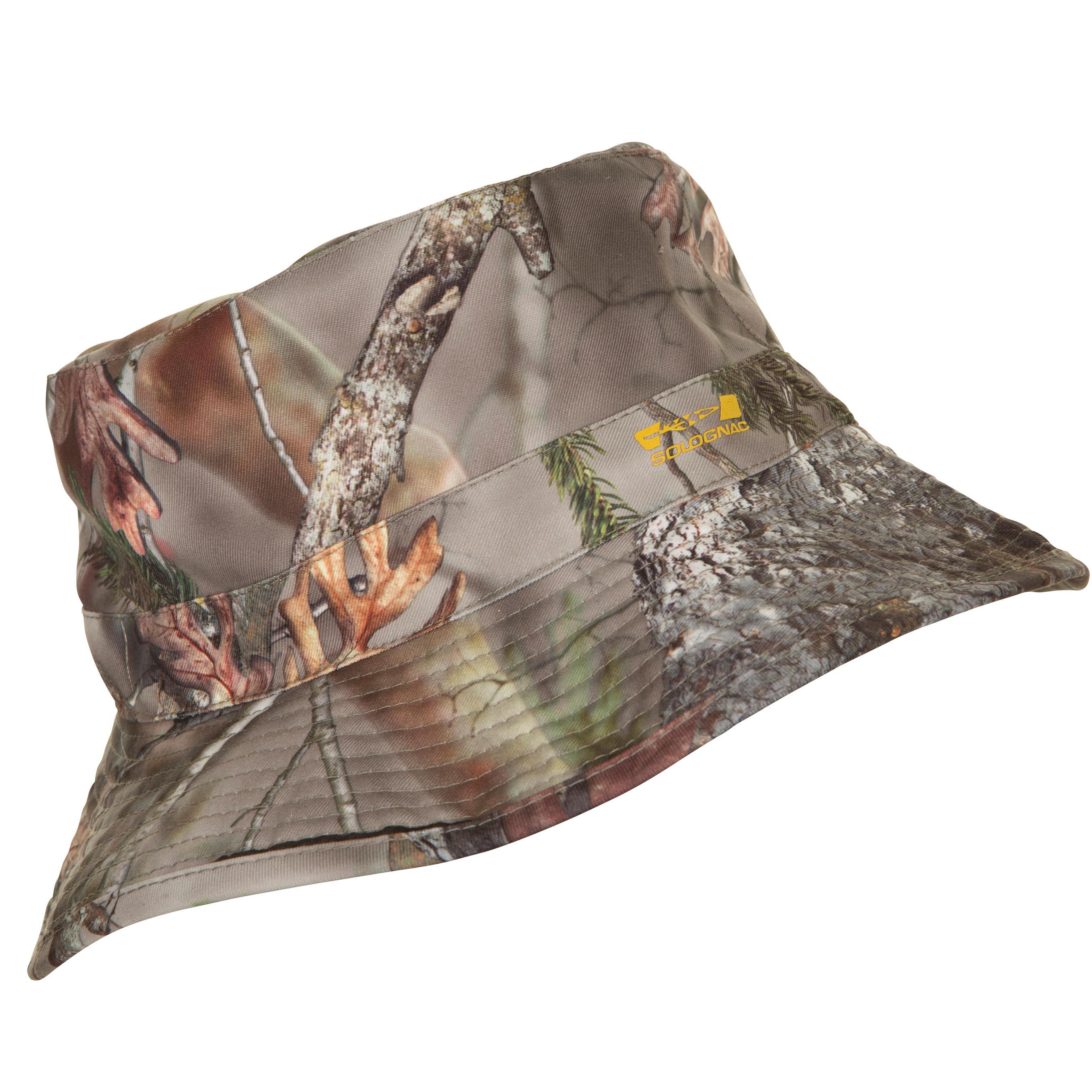Solognac Keerbaar hoedje Actikam 100 camouflage bruin