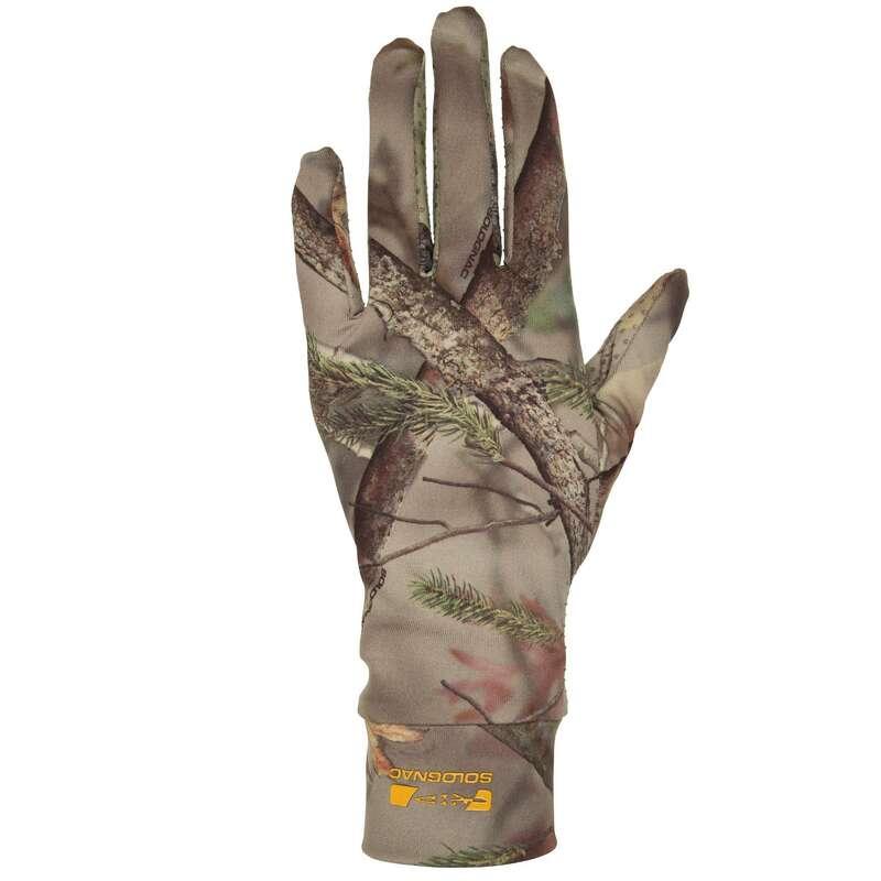 Camo Bekleidung trockenes Wetter Jagd und Sportschiessen - HANDSCHUHE 100 CAMOUFLAGE SOLOGNAC - Jagdbekleidung