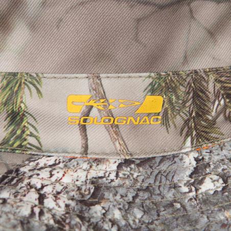 Actikam 100 camouflage reversible hunting sun hat - brown