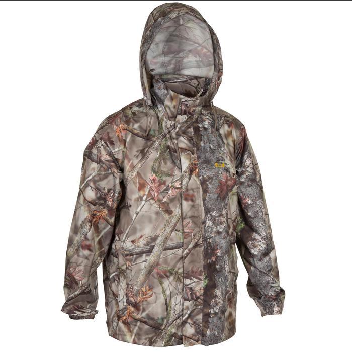 Veste Actikam 100 imperméable camouflage marron - 581237