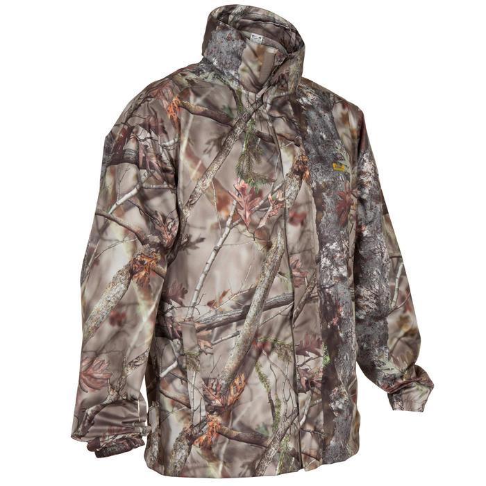 Veste Actikam 100 imperméable camouflage marron - 581238