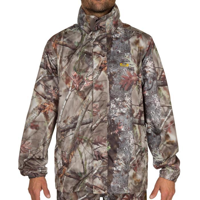 Veste Actikam 100 imperméable camouflage marron - 581239