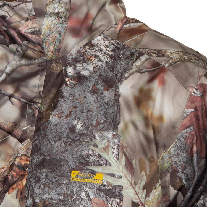 Waterdichte jas Actikam 100 camouflage bruin