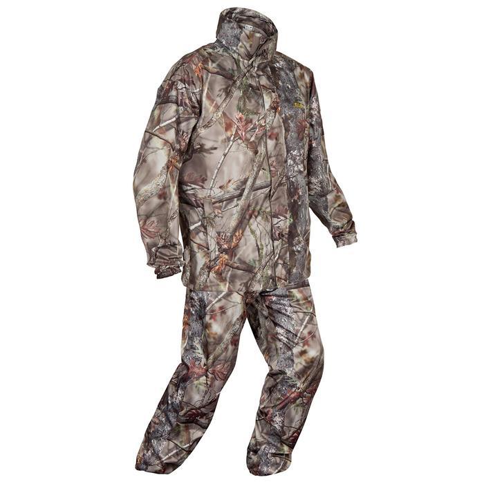 Veste Actikam 100 imperméable camouflage marron - 581250