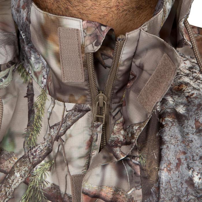 Veste Actikam 100 imperméable camouflage marron - 581252