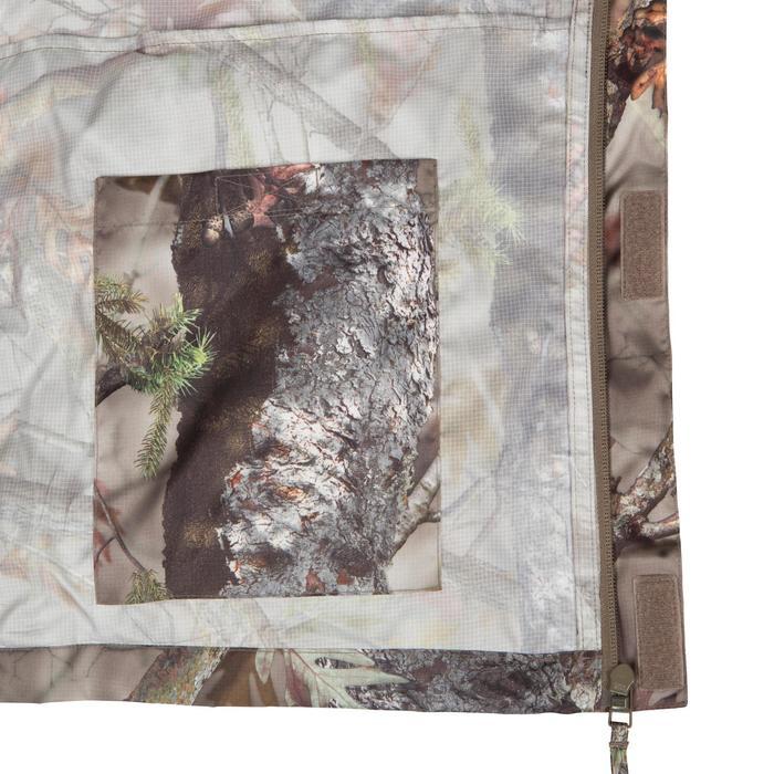 Veste Actikam 100 imperméable camouflage marron - 581253
