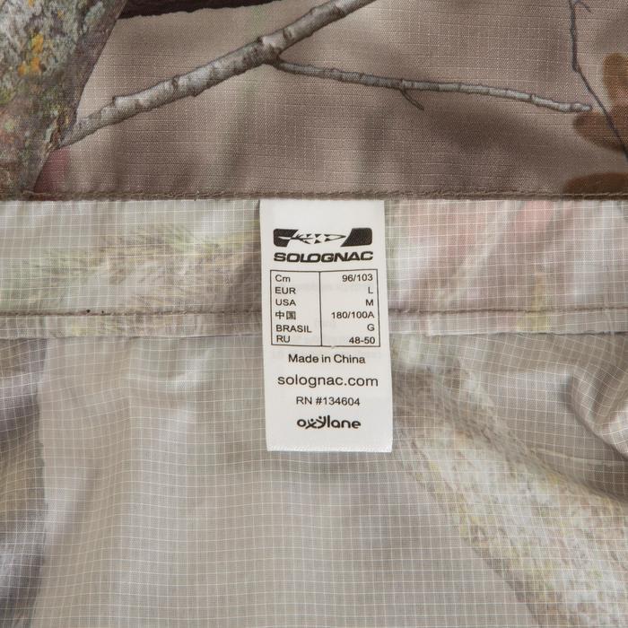 Veste Actikam 100 imperméable camouflage marron - 581255