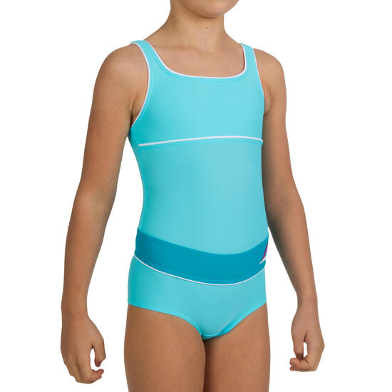Combishort badpak voor meisjes Color Block - 581271