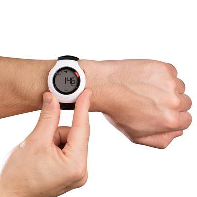 שעון דופק ONRHYTHM 110 ורצועת דופק - שחורה ולבנה