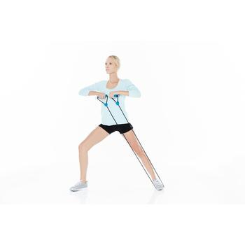 Elastikband Gym Light 900 mit Griffen Pilates Toning geringer Widerstand