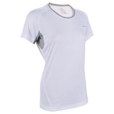 bc01c7d8c1923 T-Shirt manches courtes randonnée Techfresh 50 femme blanc ...