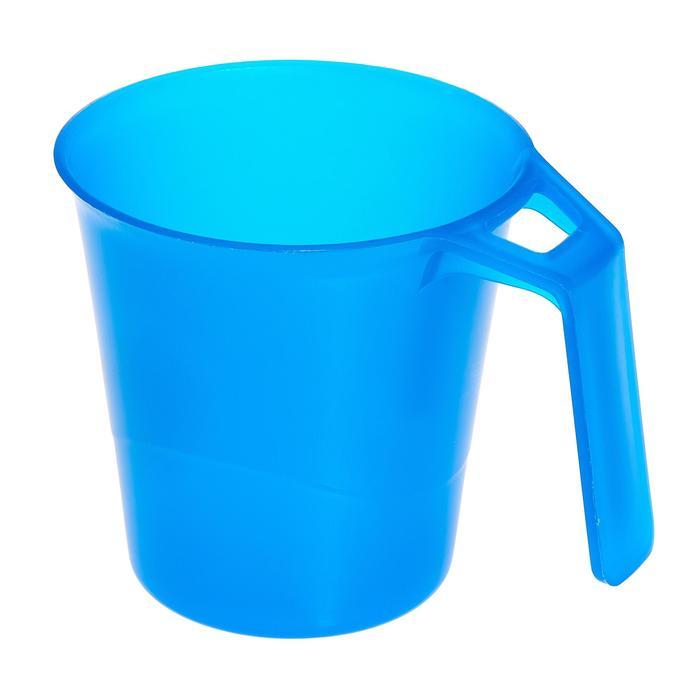 Plastic mok voor trekking 0,3 liter blauw