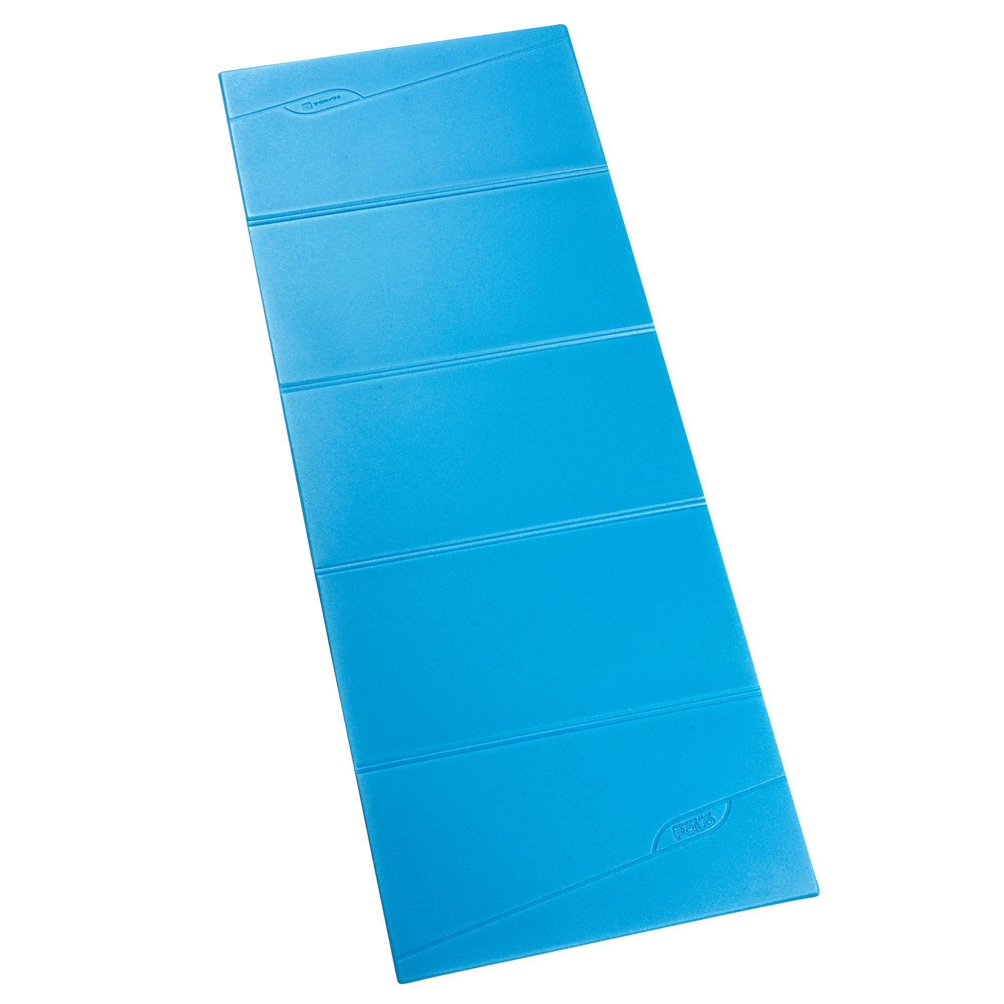 Tapis De Sol Fitness Pliable Fold Bleu Domyos By Decathlon