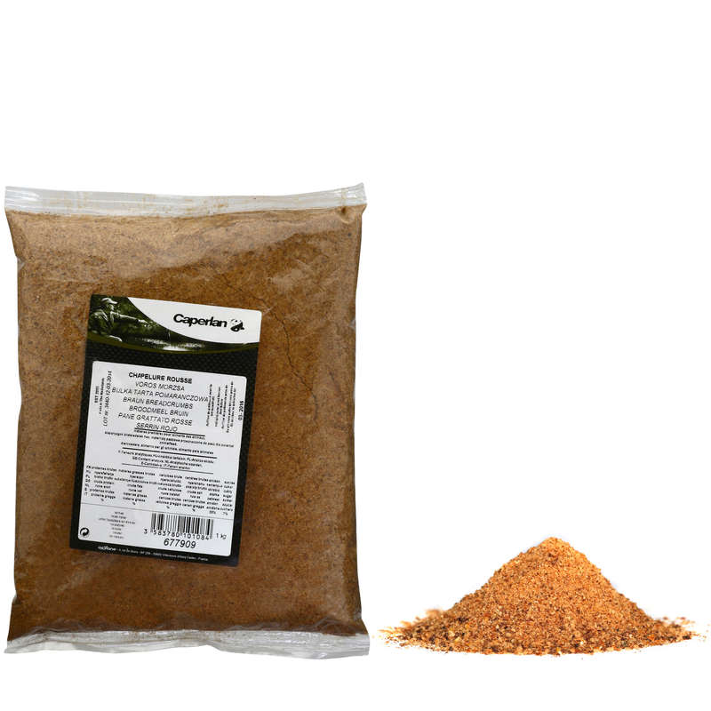 CEREAL CORN BAITS Fishing - DARK BREADCRUMBS 1 KG CAPERLAN - Coarse and Match Fishing