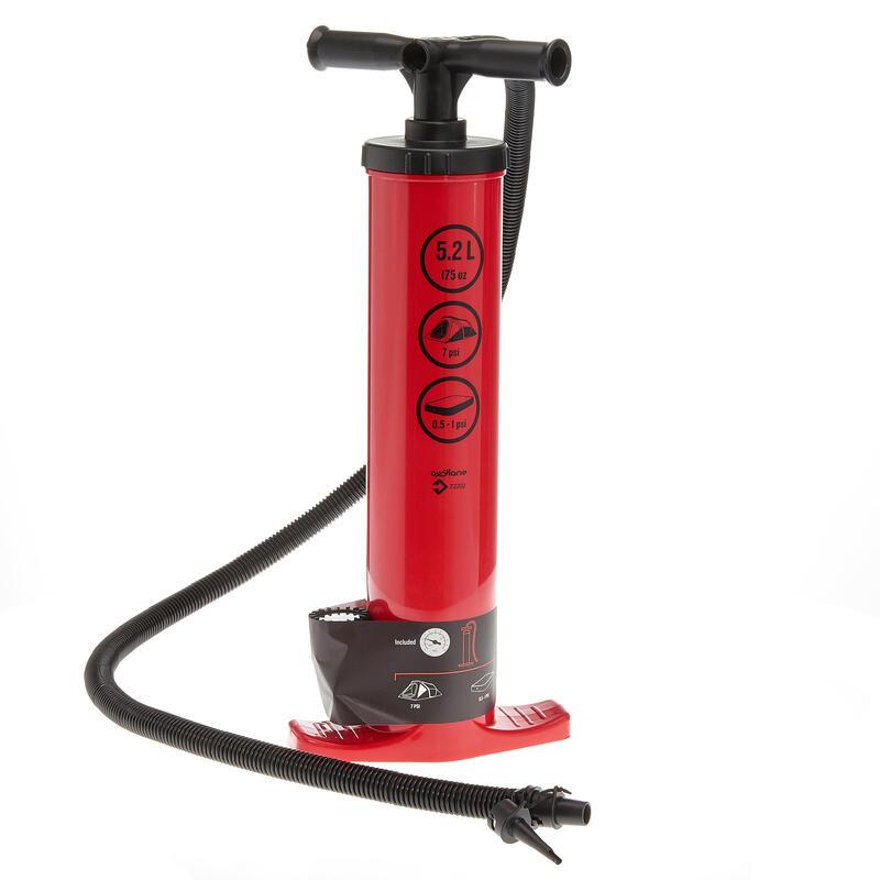 Dvojčinná ruční pumpa 5,2 l 7 PSI k nafukovacím stanům