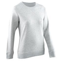 Fitness sweater met ronde hals voor dames, gemêleerd