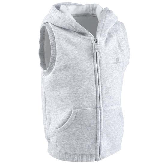 Mouwloze gym hoodie met rits voor peuters - 587495
