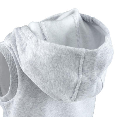 100 Baby Sleeveless Hooded Gym Jacket - Grey