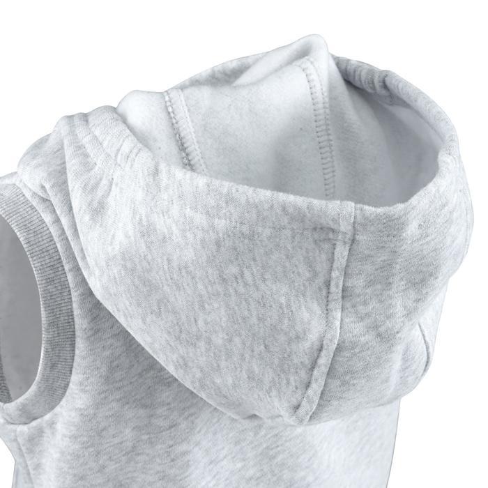 Chaleco con capucha 100 gimnasia infantil gris
