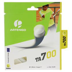 Tennisbesnaring TA 100 1,25 mm monofilament wit