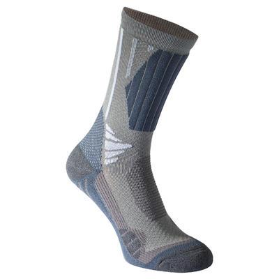 Bionnassay 900 High adult high top hiking socks 2 pairs - grey.