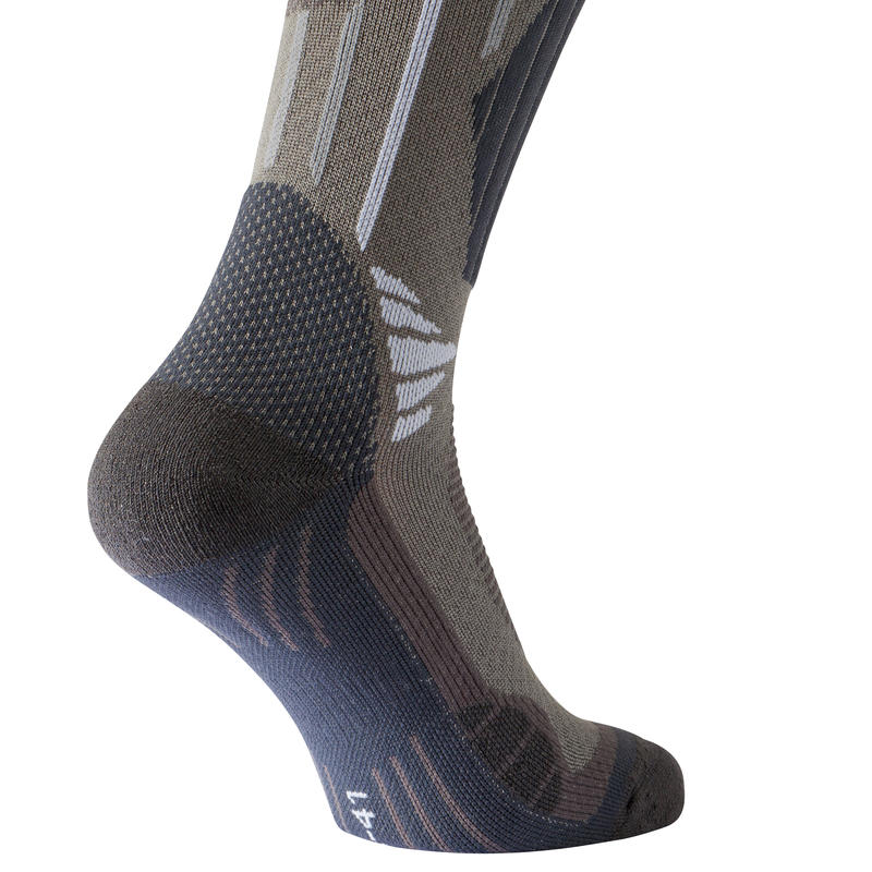 Bionnassay 900 High adult high top hiking socks 2 pairs - grey.