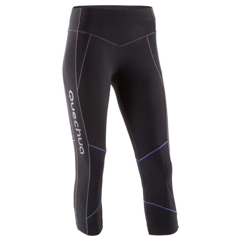 Mountain Trail 500 women's 3/4 running tights - black and purple