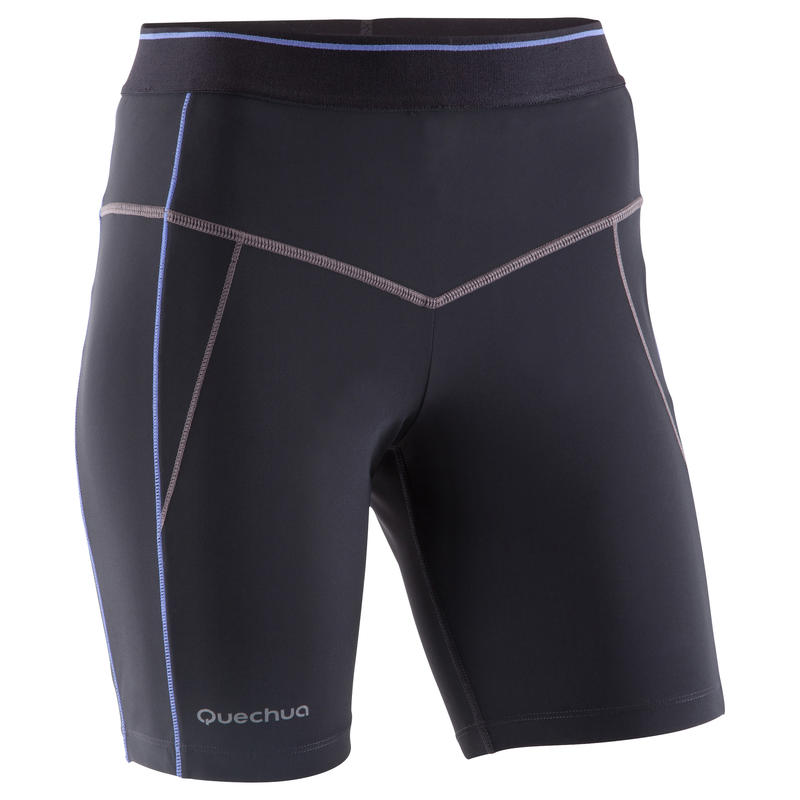 Women's Mountain Trail tight shorts - Black and purple.