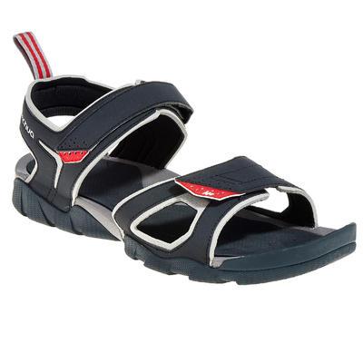 Sandales de Randonnée arpenaz 50 homme noir et rouge