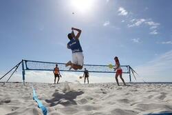Beach tennis net blauw - 593281
