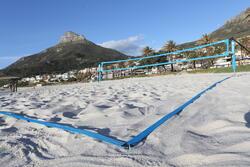 Beach tennis net blauw - 593287